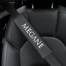 2 pçs carro-estilo do carro de fibra de carbono cinto de segurança do carro capa protetora almofada para renault megane koleos clio acessórios