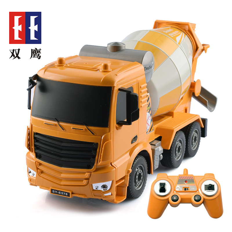 Shuangying Remote Control Cement Mixer Toy Large Engineering Vehicle Cement Concrete Tanker Boy Toy
