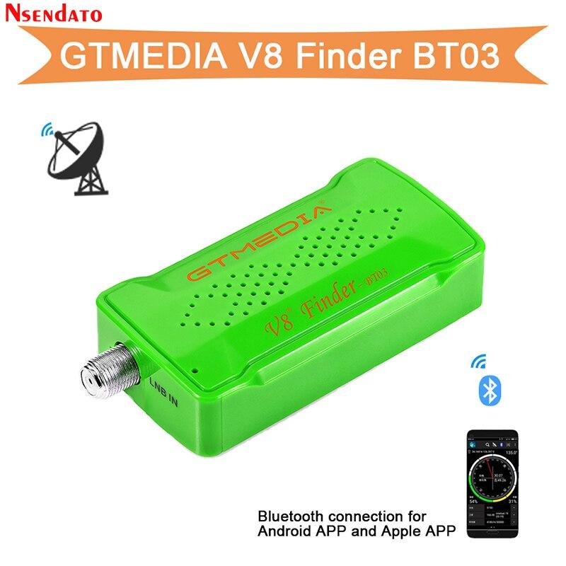 GTMedia Freesat V8 Finder BT03 DVB S2 спутниковый Satfinder для andriod IOS 1080P цифровой Bluetooth DVB-S2 HD спутниковый искатель