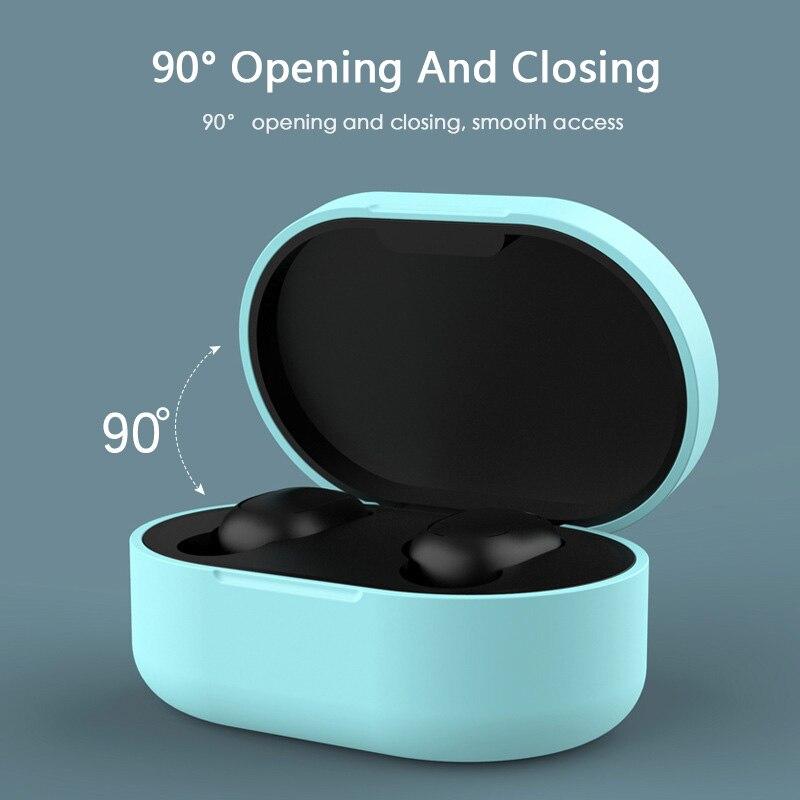 Sarung fon telinga silikon untuk fon kepala Xiaomi MI Redmi AirDots - Audio dan video mudah alih - Foto 5