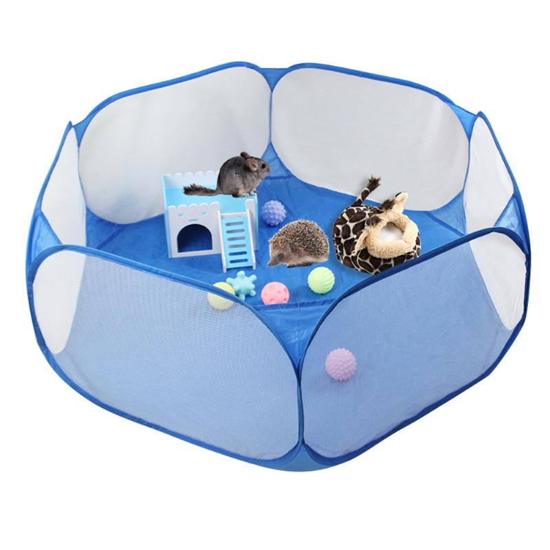 Pet Playpen Pop Open Indoor Outdoor Small Animal Cage Game Playground Fence For Hamster Chinchillas Guinea Pigs Supplies