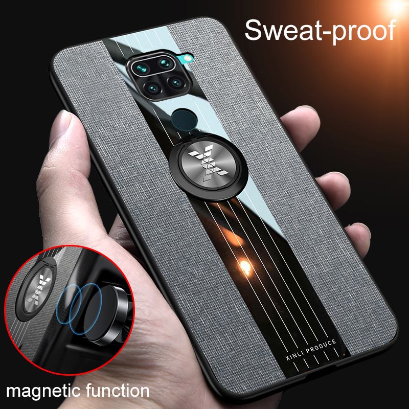 For Xiaomi Redmi Note 9 8T For Mi 10 Case Car Magnetic Stand Ring Back Cover For Redmi 10X Note 10 9S 8 7 K30 K20 Pro 8A Case(China)