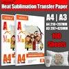 Impresora de inyección de tinta, papel fotográfico de transferencia térmica por sublimación, 100gsm, A3, A4, 100 hojas por lote