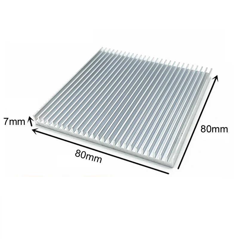 Aluminium Wastafel Panas Radiator Heatsink untuk IC LED Pendingin Elektronik Pendingin Chipset Panas Dissipation-60x60x10, 80X80X7,90X90X15 Mm