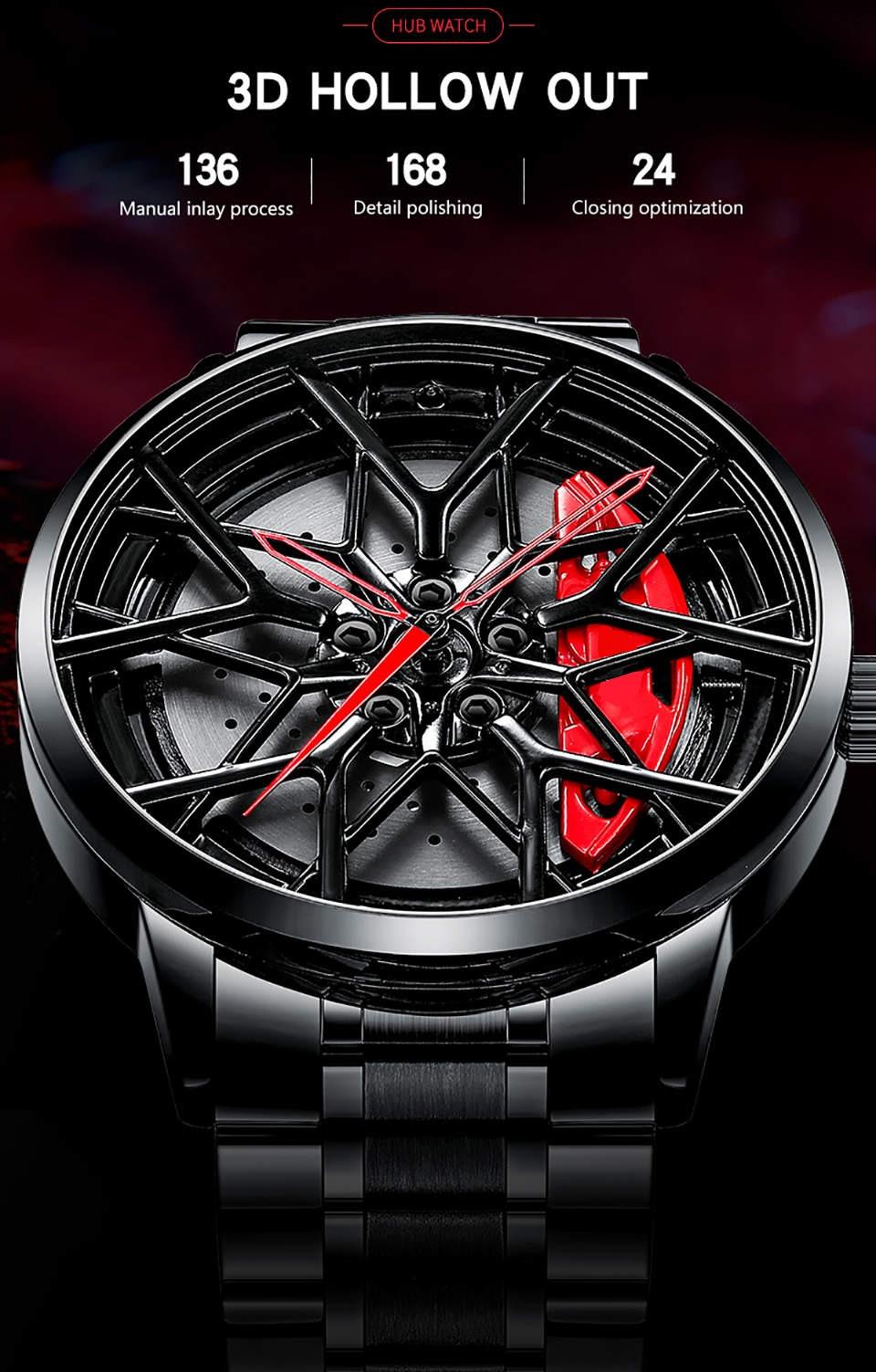 Heaf230f995194f25af208b56cdf84c198 NIBOSI 2020 Car Rim Hub Wheel Watch Custom Design