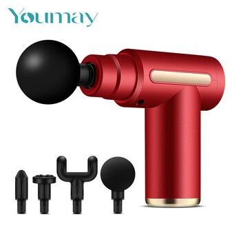Youmay Muscle Massage Gun Mini Pocket Vibration Electric Back Neck Massager Gun for Body Deep Relief Pain Slimming Fascial Gun 1