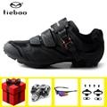 Tiebao  велосипедная обувь  педаль  набор spd  sapatilha ciclismo  mtb  мужские кроссовки  женские  велосипедные кроссовки  обувь для езды на горном велосипе...