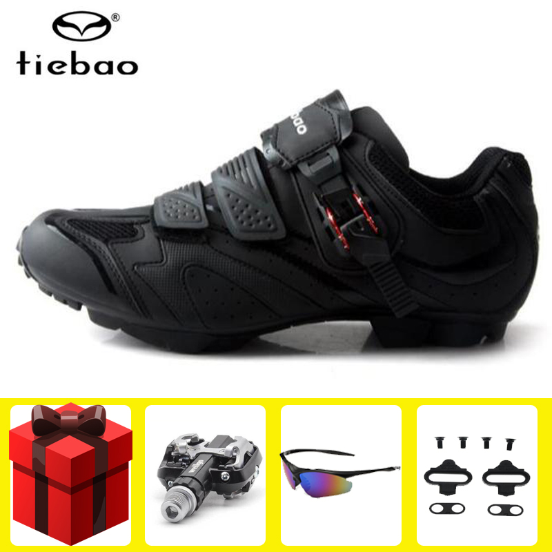 Tiebao Cycling Shoes add SPD pedal set sapatilha ciclismo mtb men sneakers women Bike Sneakers mountain bike Ride Bicycle Shoes