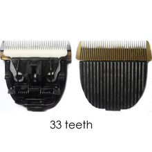 High Quality 33 fine teeth Ceramic Titanium Knife Pet Dog Hair Trimmer Blade Clipper Head for C6 P2 P6 P9 S1ZP-295 ZP-293(China)