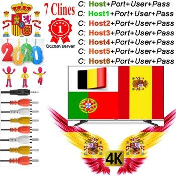 Cccam Europa OSCAM lineas per trasporto sat Ricevitore Satellitare 7 Clines WIFI FULL HD Supporto Cccam DVB-S2 Europea tramite USB wifi dongle