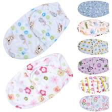 Saco de dormir cálido para bebé, envoltura de capullo de sobre para recién nacido, manta de dormir suave 100% de algodón de 0 a 6 meses