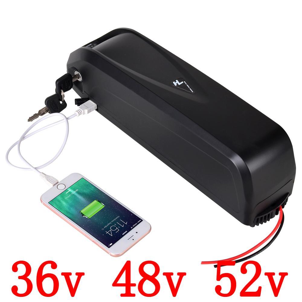 Livraison gratuite plus récent hailong vélo électrique vélo batterie cas 36V 48V 52V ebike batterie avec support de cellule
