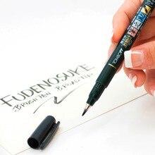 1 шт. Tombow Fudenosuke Кисть ручка мягкий и твердый наконечник художественный маркер черные чернила для каллиграфии художественные рисунки эскиз надписи ручки