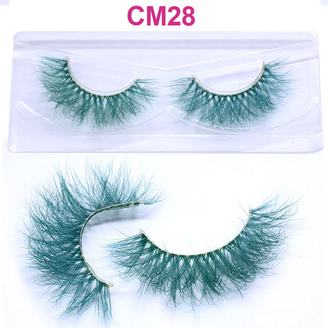 OKAYLASH 3D 6D False Colored Eyelashes Natural Real Mink fluffy Style  Eye lash Extension Makeup Cosplay Colorful Eyelash 1