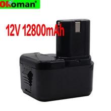 Alta Qualidade 12800mAh Bateria para Hitachi 12V 4.8Ah EB1214S 12V EB1220BL EB1212S WR12DMR CD4D DH15DV C5D , DS 12DVF3