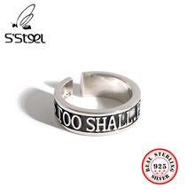S'steel в Корейском стиле кольца 925 пробы серебра для Для