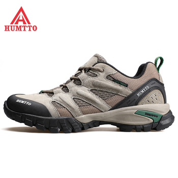 Outdoor Climbing Shoes Men's Breathable Low-Up Hiking Shoes Anti-slip and Shock Absorption Climbing Shoes Cattle Back Suede
