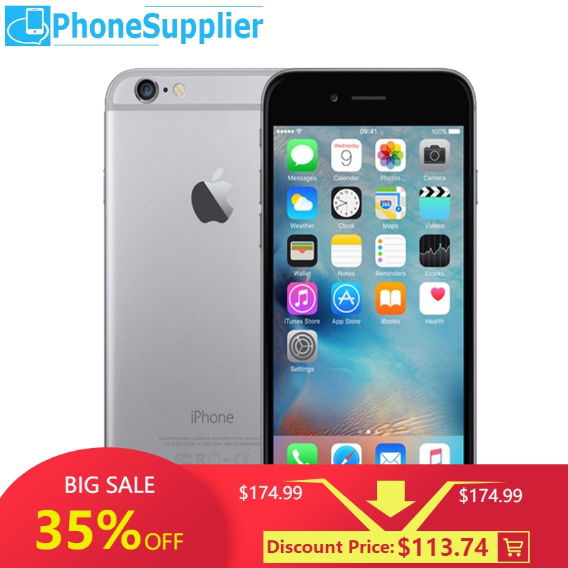 Apple iPhone 6 4G LTE 16GB LTE/GSM/WCDMA Dual Core Fingerprint Recognition Used Unlock