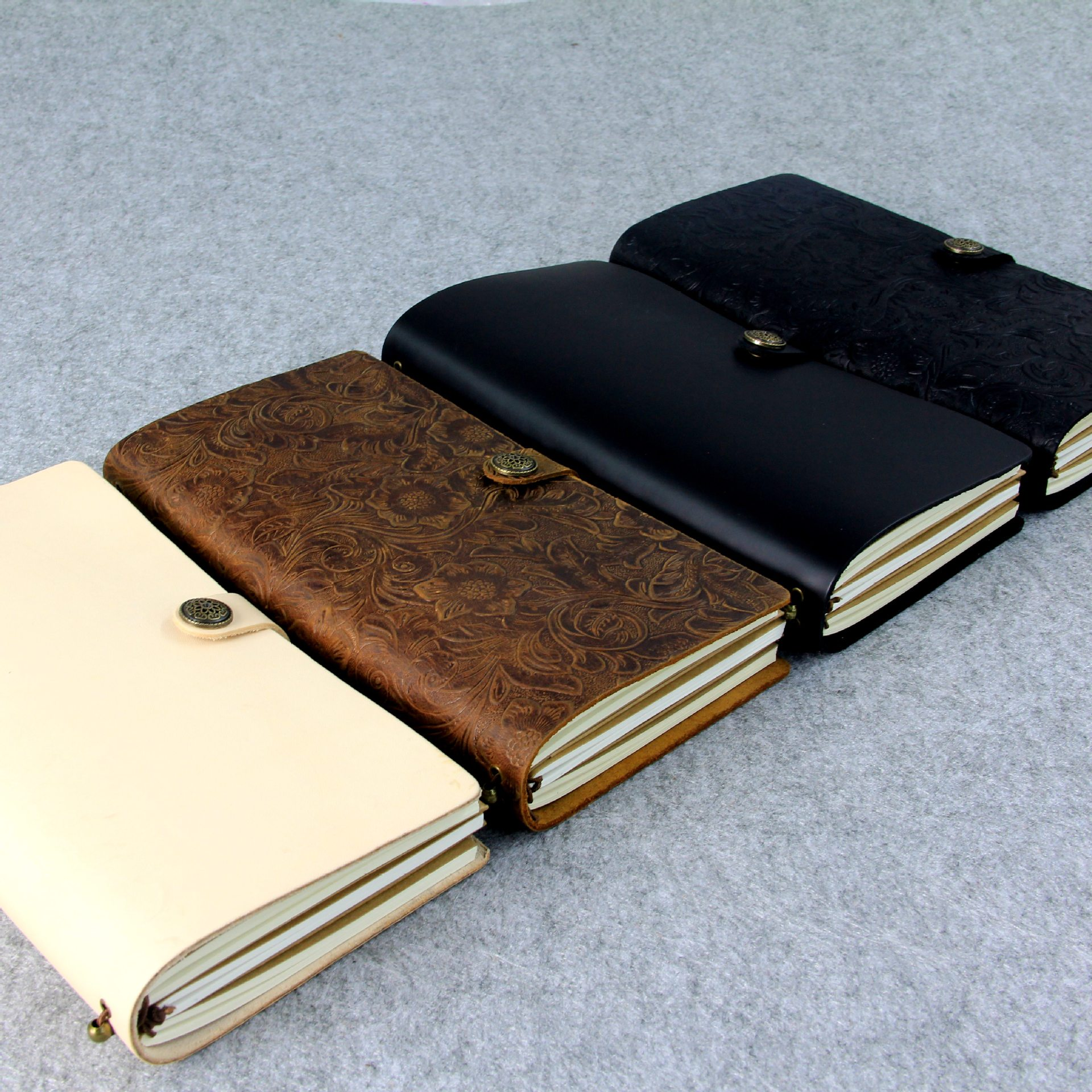 100% Genuine Leather Traveler's TN Notebook Diary Journal Vintage Handmade Cowhide gift Business Office Notebook 13x22cm