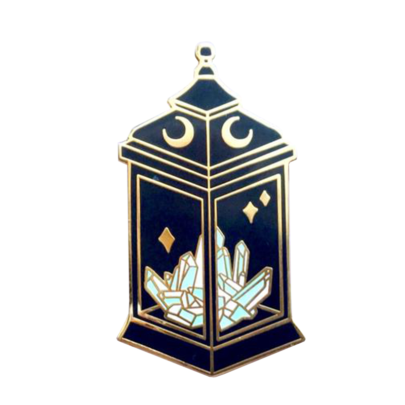Mystical crystal lantern pin witchy vibes and fantasy dreams spooky aesthetic Halloween-themed collection(China)