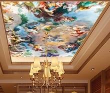 European character oil painting zenith mural Ceiling Wallpaper Mural De Parede 3d ceilings