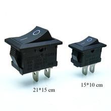 цена на 10 pcs/lot KCD1 2 Pin 250V 3A Boat Switch 21*15 15*10 Snap-in SPST ON OFF Rocker Position Switch