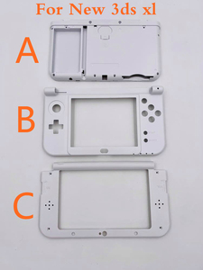 Image 2 - 4 цвета, Оригинальная передняя панель жидкокристаллический дисплей, экран, корпус среднего корпуса, часть петли, нижняя средняя оболочка, чехол для батареи для новых 3DS XL LL