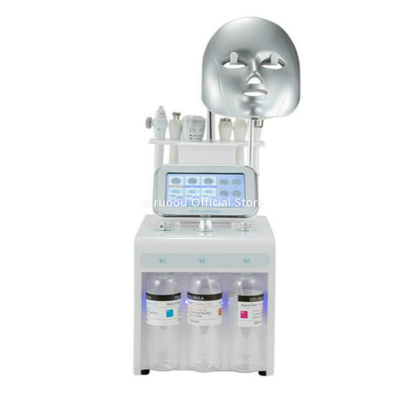 Multifunction Oxygen Hydrogen Small Bubble Skin Care Beauty Machine Blackhead Remover Facial Cleansing Machine