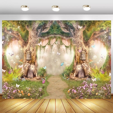 Fantasy Spring Forest Fairytale World Arched Tree Hole Baby Child Photophone Backdrop Photography Background For Photo Studio