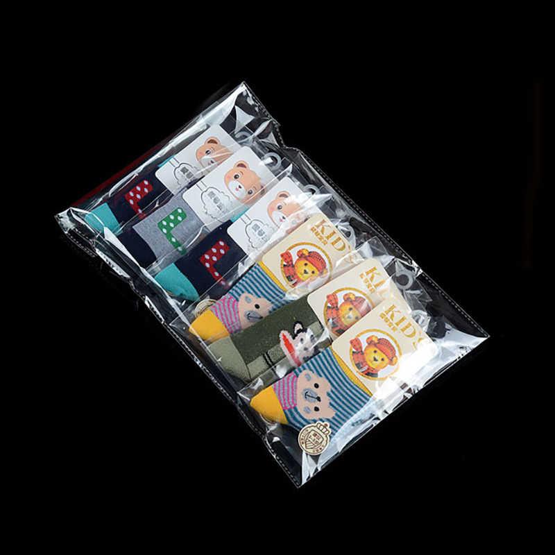 Tebal Jelas Self Adhesive Selofan Tas Transparan Kecil Penyegelan Diri Plastik Paket Penyimpanan Tas Resealable Polybag