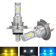 2 PIÈCES Voiture Ampoule H7 80W 3570 2SMD 6000K LED Antibrouillards DC12 24V