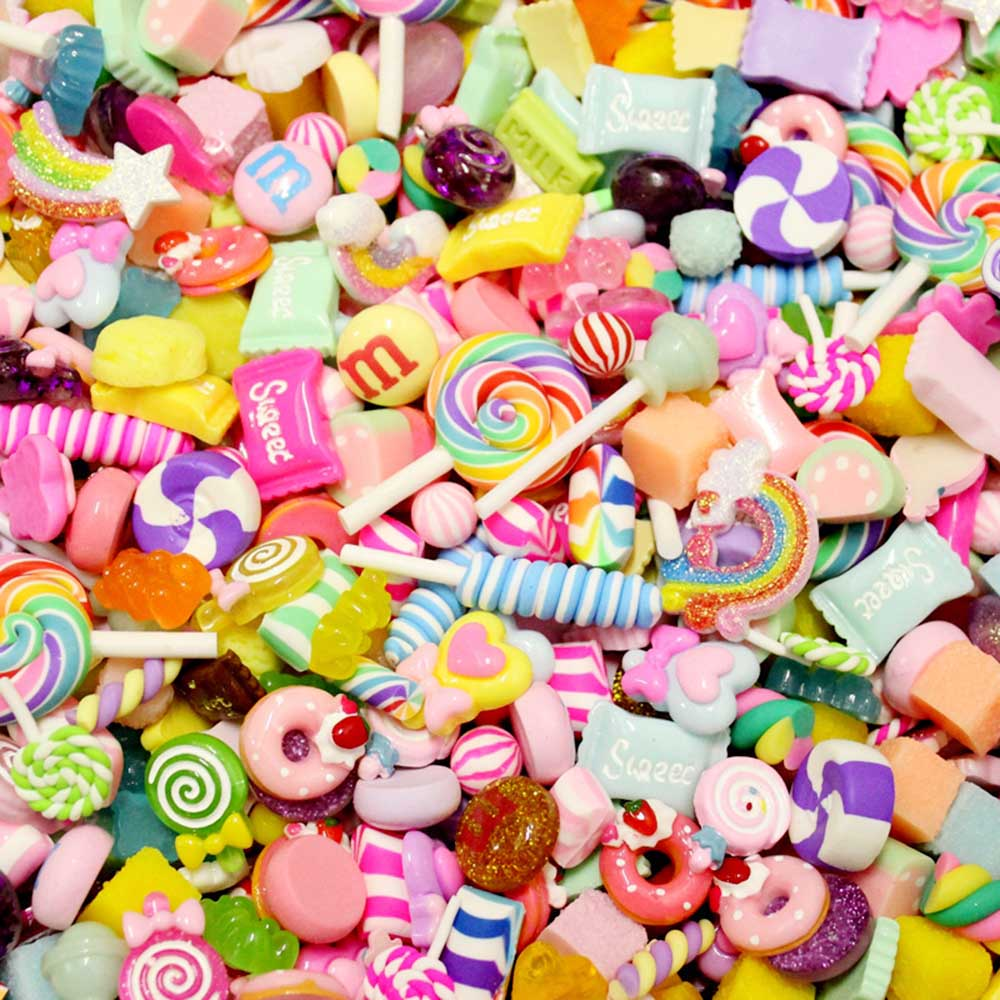 Craft Toys  30 Pcs/lot Arts & Crafts Toys DIY Resin Cabochon Accessories Craft Decorations Gift Jewelry Simulation Cake Dessert