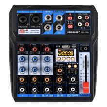 AM PSM DC 5V источник питания USB интерфейс 6 канальный 2 моно 2 стерео 16 эффектов аудио микшер