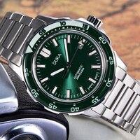 DUKA-reloj mecánico de acero inoxidable NH35 para hombre, reloj masculino de negocios, resistente al agua, con bisel de cerámica y zafiro, 100