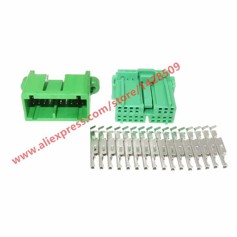 5 комплектов 16 Pin Авто Женский Мужской автомобильный разъем PCB гнездо на плату разъем для автомобильная проводка IL-AG5-16S-D3C1
