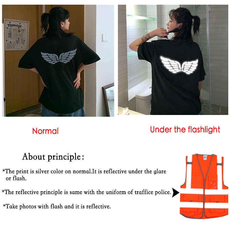 White Wings Reflected Light Clothing Woman Man T-Shirts Couples Tops Plus Lovely