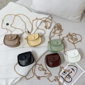Fashion Kids Children PU Leather Shoulder Bag Lovely Baby Girls Mini Chain Coin Purse Cute Princess Crossbody Bags Small Wallet new fashion women sweet cute ladies girls kids coin purses silicone wallet cartoon clutch purse chain mini bag small coin bags