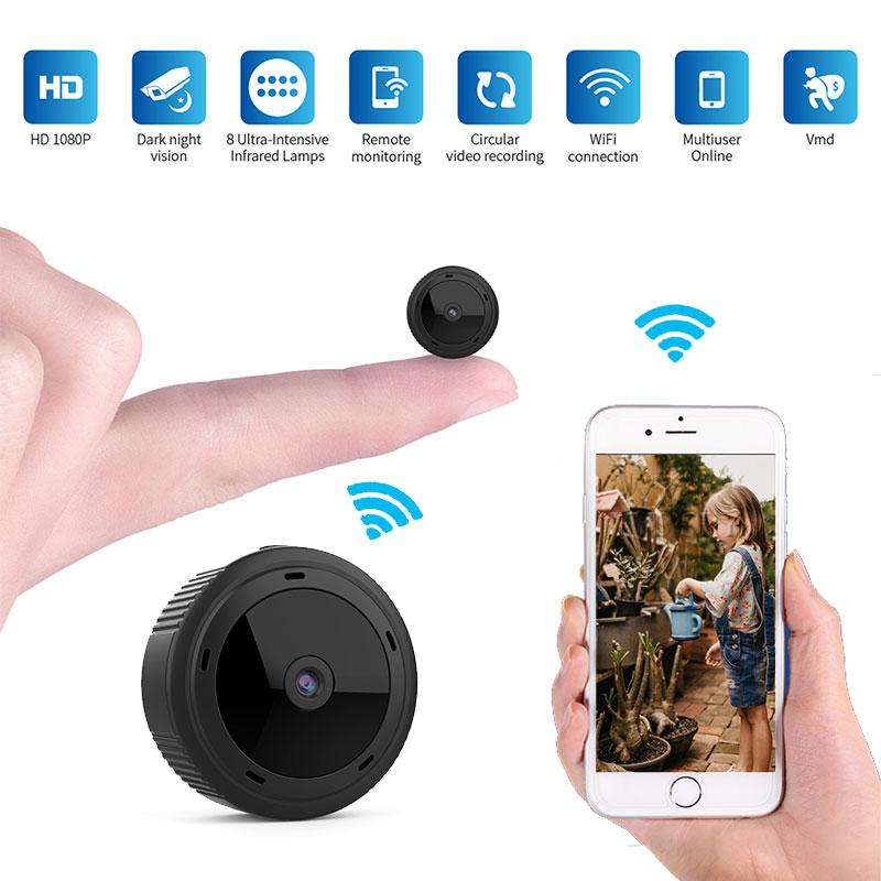 Wifi Mini Camera Espia 1080P Magnetic Body 8pcs Night Vision Motion Sensor HD Video Remote Micro IP Cam Support Hidden TF Card(China)