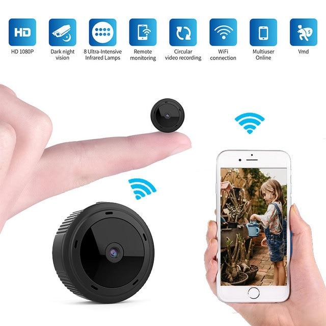 Wifi Mini Camera Espia 1080P Magnetic Body 8pcs Night Vision Motion Sensor HD Video Remote Micro IP Cam Support Hidden TF Card