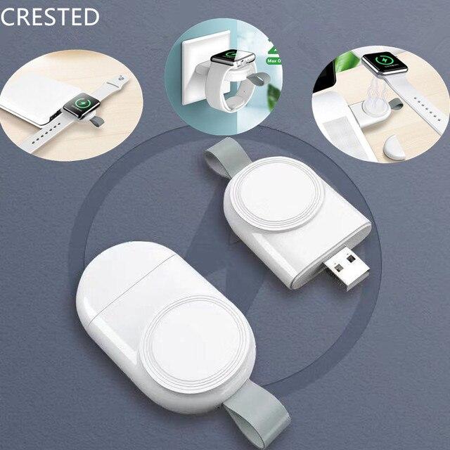 Portátil cargador inalámbrico para apple watch serie 5 4 3 2 1 44mm/40mm Estación De Carga Cable de cargador USB IWatch 5 4 44mm