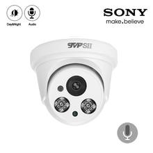 White Plastic HaiKang Two Array Leds CMOS 1080P 2mp,4mp,5mp,8mp 4K Audio indoor hemisphere Dome AHD CCTV Camera