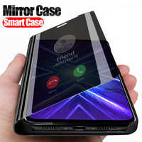Smart view Mirror phone cover honor 9x case For huawei honor 9 x Premium STK-LX1 global honr xonor honor9x Stand book Flip coque