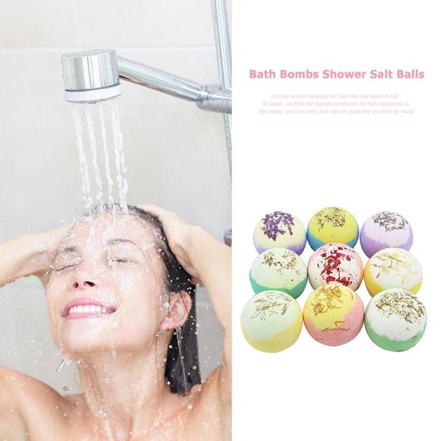 6pcs Bubble Bath Salt Ball Compact and Portable Carry Convenient Shower Bomb Essential Oil Moisturize Exfoliating Soap