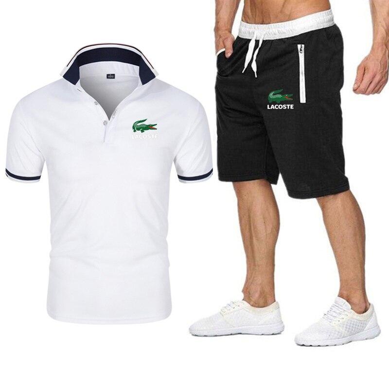 Summer Casual Beach Shorts+POLO Shirt Sets Brand Yes Boss Men T shirt Funny Harajuku Tops Tshirt Streetwear Hip Hop T-shirt