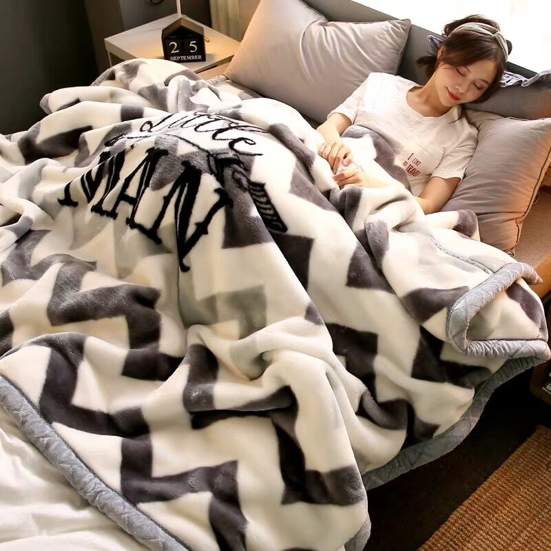 Hearty 2021 New Soft Thick Warm Fleece Blanket Winter Bedroom Quilts Sofa Nap Blanket Bedding Comforter Mechanical Wash Raschel Blanket High Quality And Low Overhead
