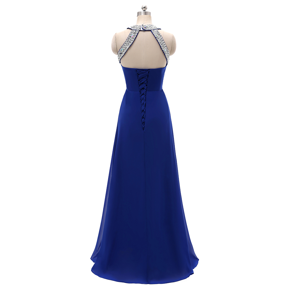 Women Halter Wedding Party Gown Chiffon Long Bridesmaid Dresses 2019 in Bridesmaid Dresses from Weddings Events