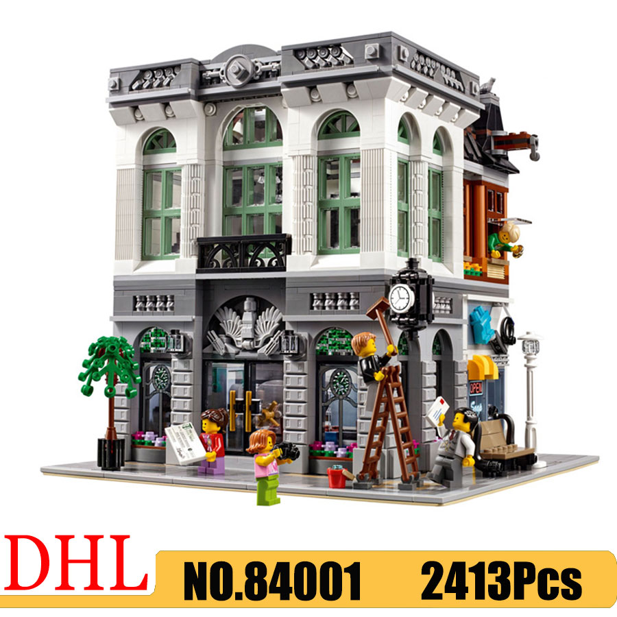 City Street View Series 84001 15001 Bricks Bank Model Building Blocks Bricks 2413Pcs Compatible <font><b>10251</b></font> Kids Education Toys image