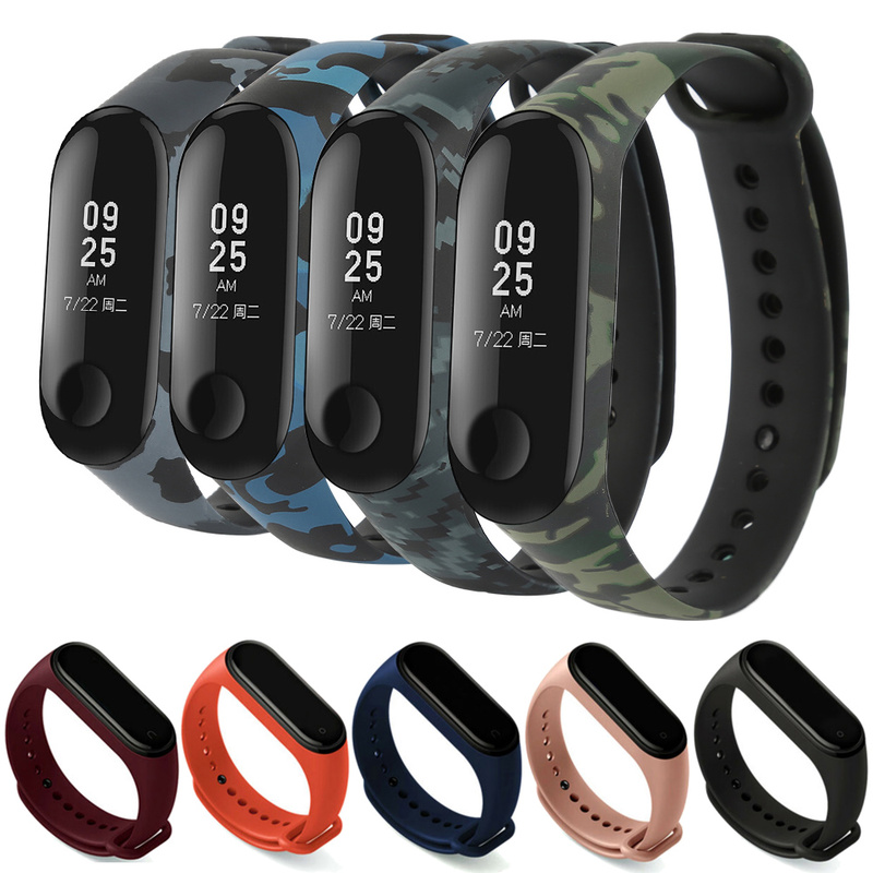 Xiaomi Mi Band 4 3 Strap Replacement Wrist Straps Bracelets Silicone Watch Band For Xiaomi MI Band Wristband Strap