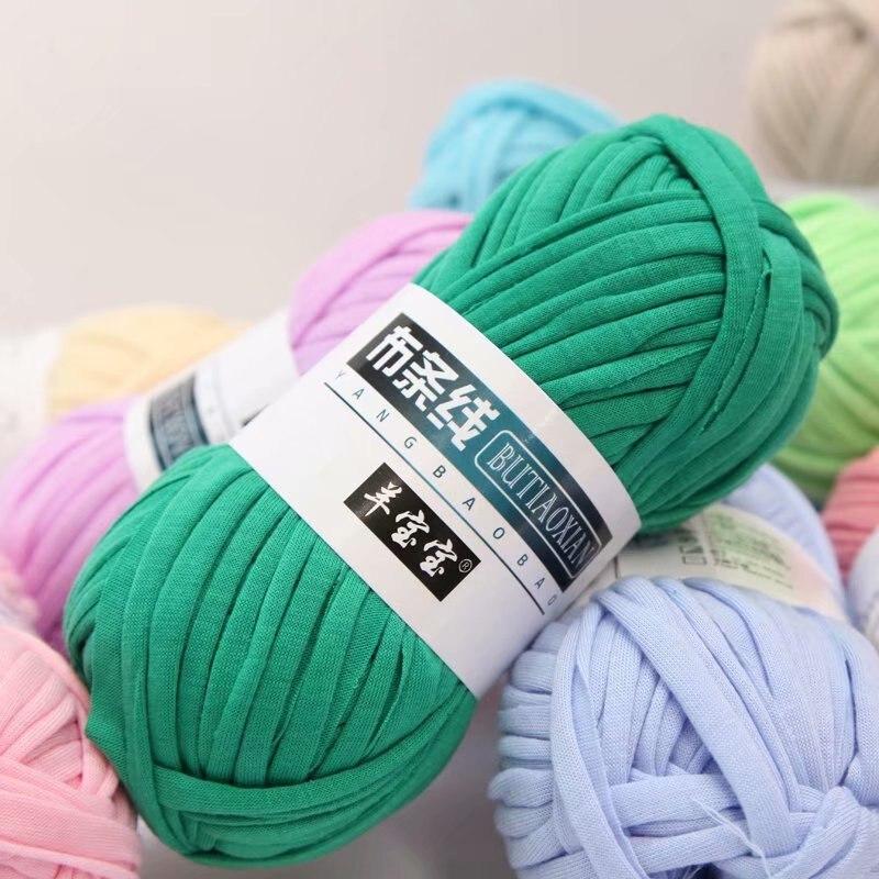 1 шт. 100g из толстой пряжи мягкий Цветной Ткань Пряжа для ручного Вязание тканый коврик с сумкой DIY ручной вязки Материал
