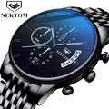 腕時計クロノグラフスポーツメンズ腕時計トップブランドの高級防水フル鋼発光クォーツ時計男性レロジオ Masculino